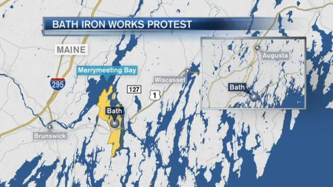 Hundreds of Shipbuilders Stage Demonstration in Maine