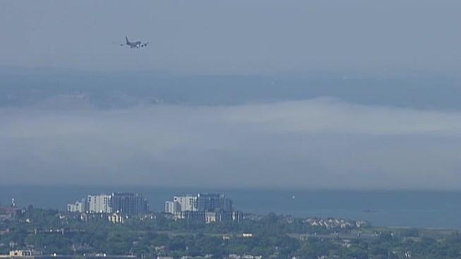 Fog Causes Delays at Logan Airport
