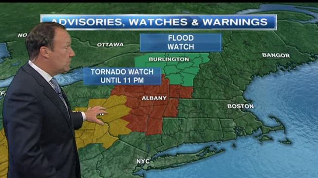 Tornado Watch Issued in Mass., Vt.