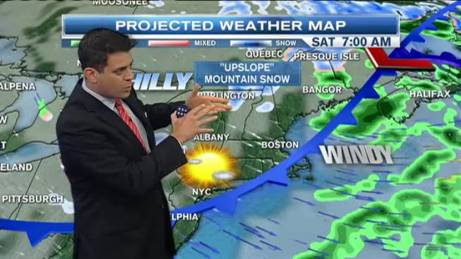 Snow Headed for North Country Mountains