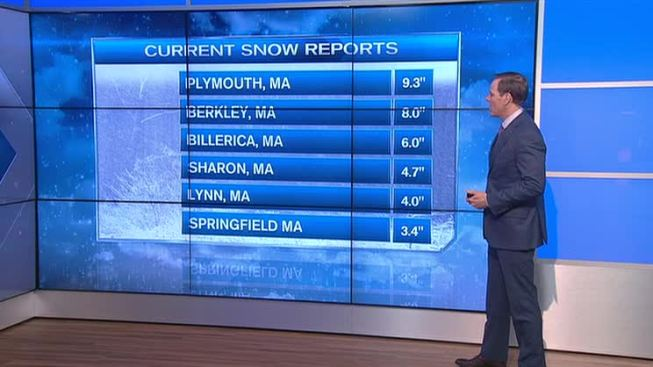 Snow Hammers Southern New England