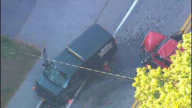 2 Drivers Hurt When School Van, SUV Crash in Shrewsbury, Massachusetts