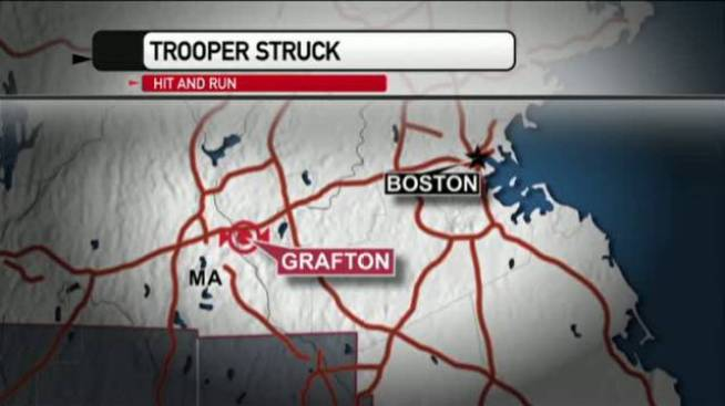 MSP Trooper Struck in Hit-and-run on Mass Pike in Grafton