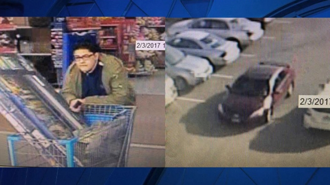Police Seek Suspect in Wal-Mart Theft