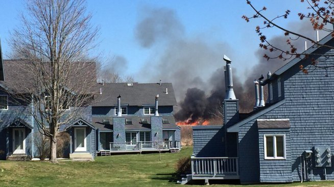 4-Alarm Brush Fire Forces Evacuations at Old Orchard Beach in Maine