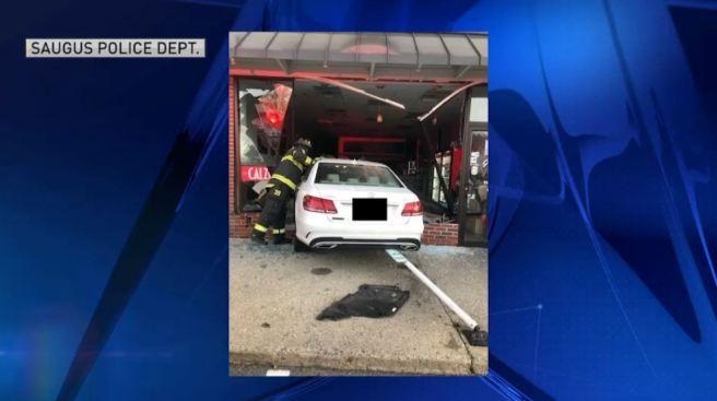 Driver Crashes Through Pizza Shop in Saugus