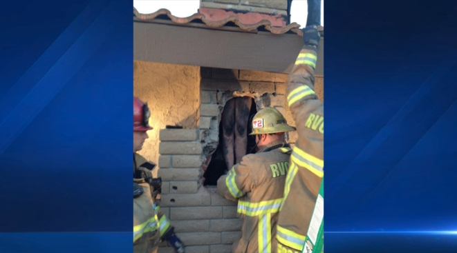 Person Stuck in Chimney Saved in 2-Hour Rescue