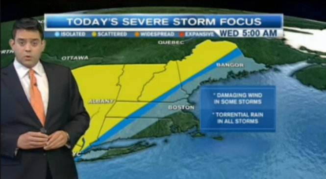 Flood Watches in Effect as Heavy Rains Expected Throughout New England