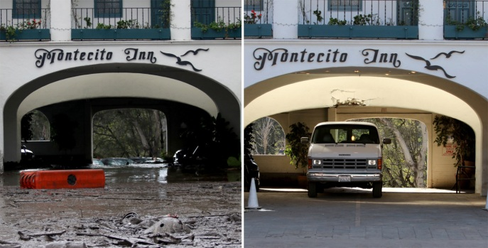 [NATL-LA]Photos: Scenes From Before and After the Mudflow Cleanup in Montecito