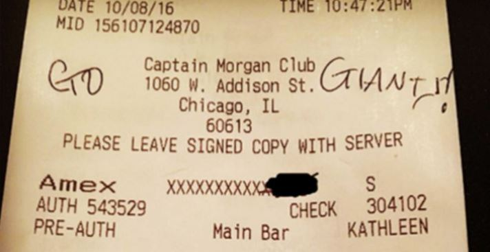 Wrigley Field Server Blessed With $5K Gratuity From 'TipsforJesus'
