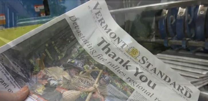 Despite Major Fire, VT Newspaper Meets Regular Deadline