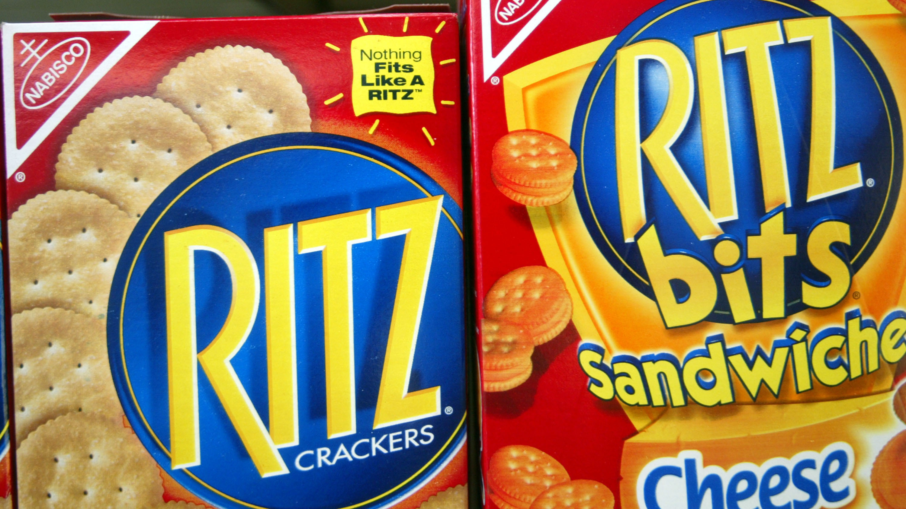 In this July 1, 2003, file photo, Ritz crackers are displayed on a store shelf in Miami, Florida.