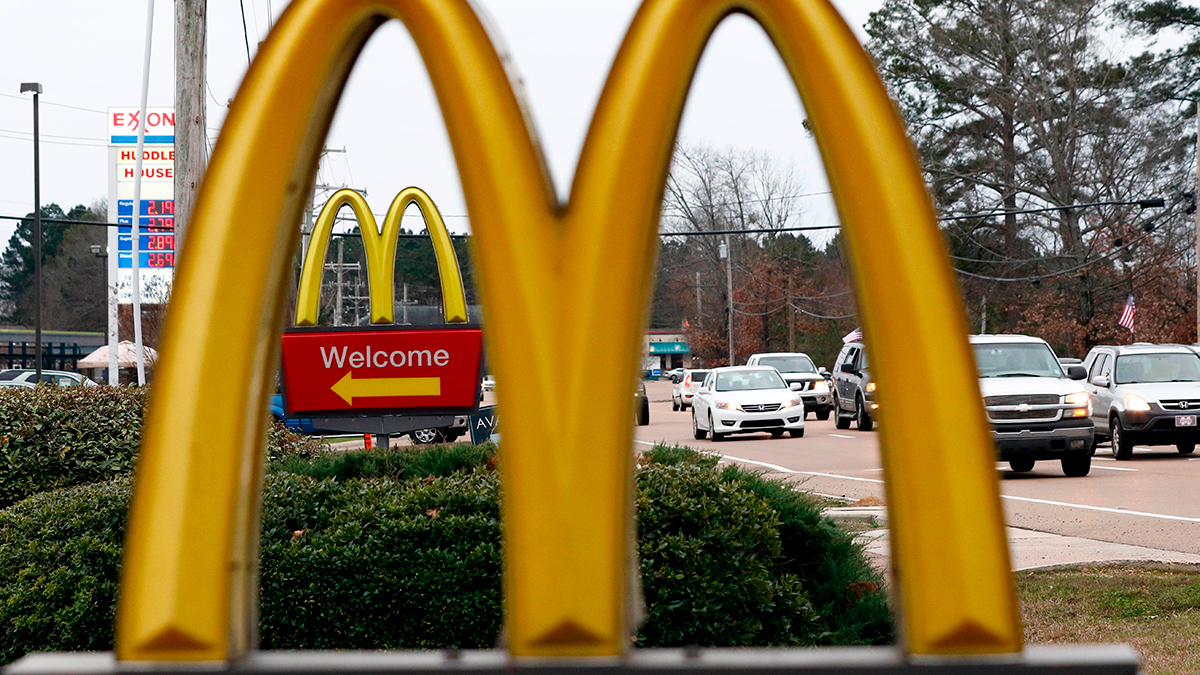 This Feb. 15, 2018, file photo shows a McDonald's Restaurant in Brandon, Miss.