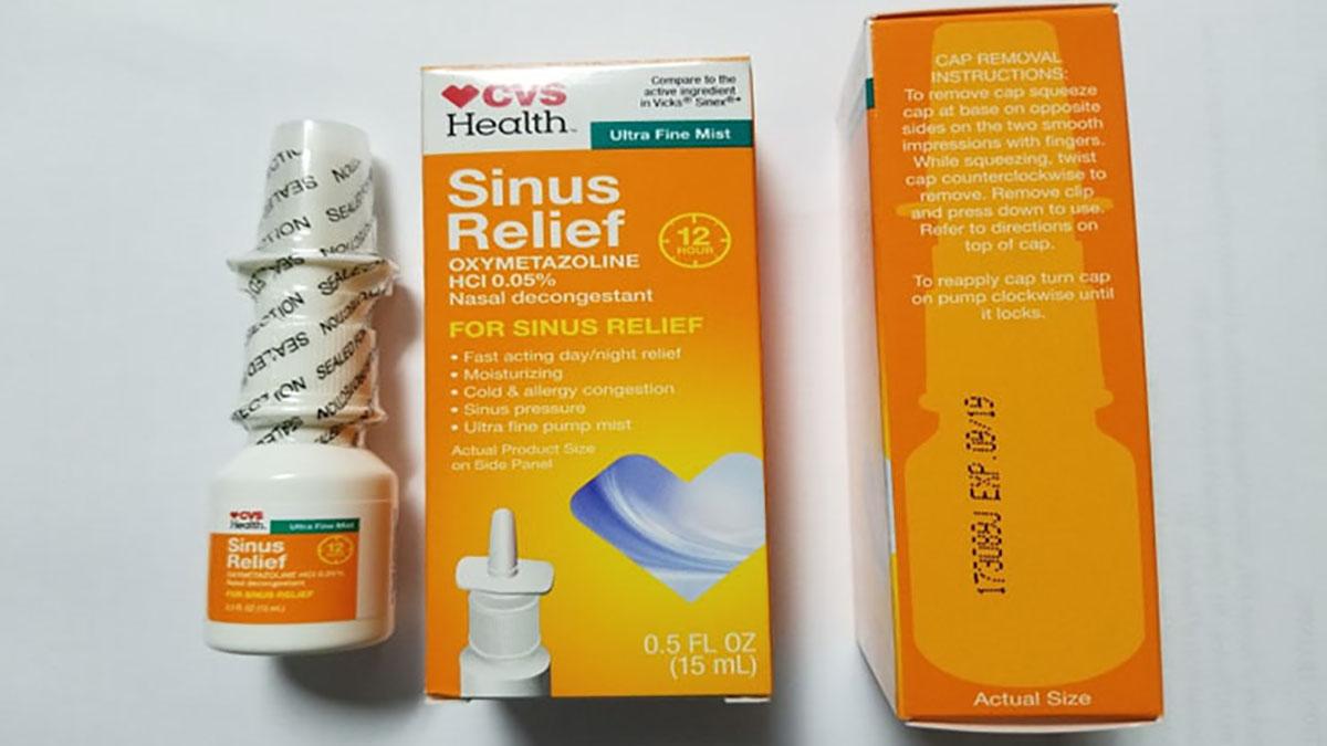 Certain CVS Health 12 Hour Sinus Relief Nasal Mist packages were recalled Wednesday due to contamination.